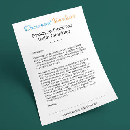 Employee Thank You Letter Templates