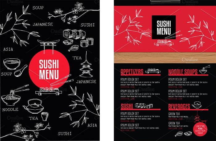 Food menu, restaurant flyer
