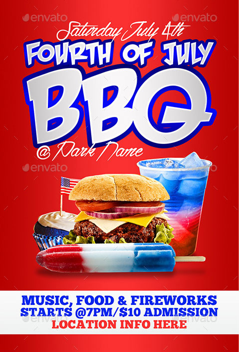 4th of july menu template - 4th of july menu templates and party flyers in pdf eps