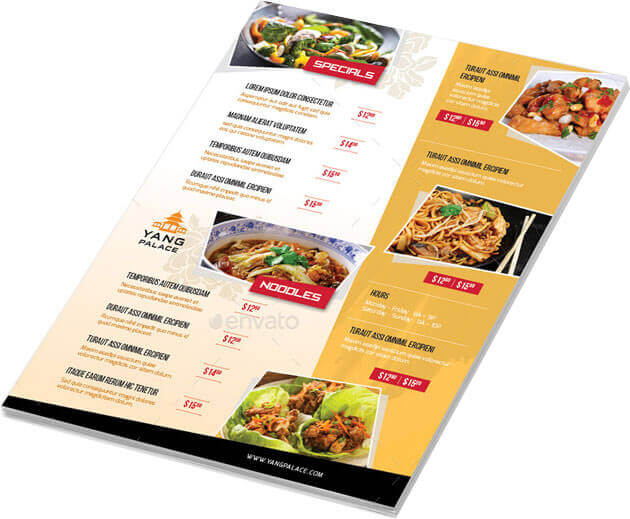 Free Chinese Restaurant Menu Template