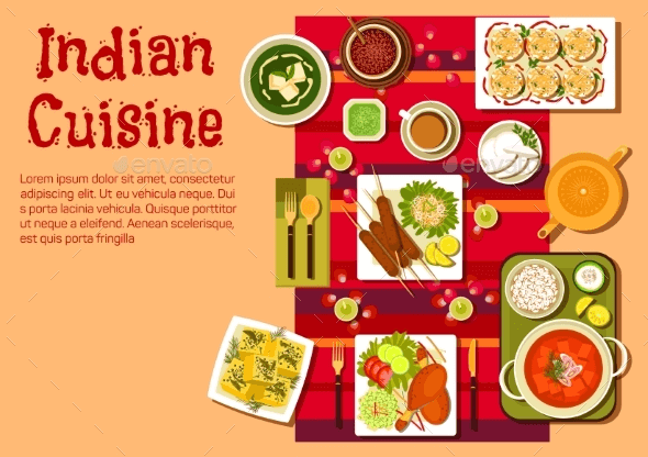Indian Cuisine Menu Templates