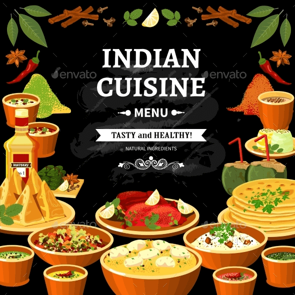 Indian Cuisine Template PSD EPS
