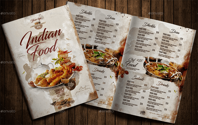 Indian Food Menu Templates