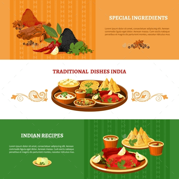Indian Recipes Templates PSD EPS