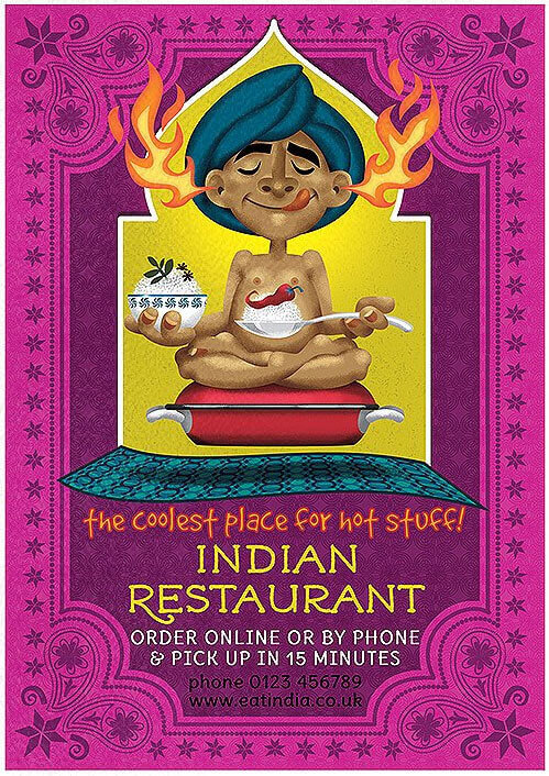 Indian Restaurant Flyer Template PSD