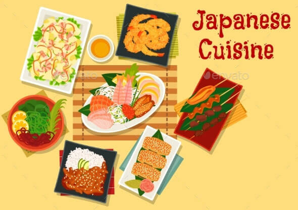 Japanese-Cuisine-Lunch-Icon-For-Menu-Design