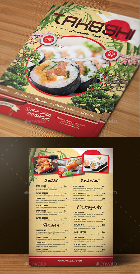 Japanese Menu Design