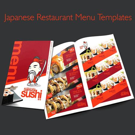Japanese Restaurant Menu Templates
