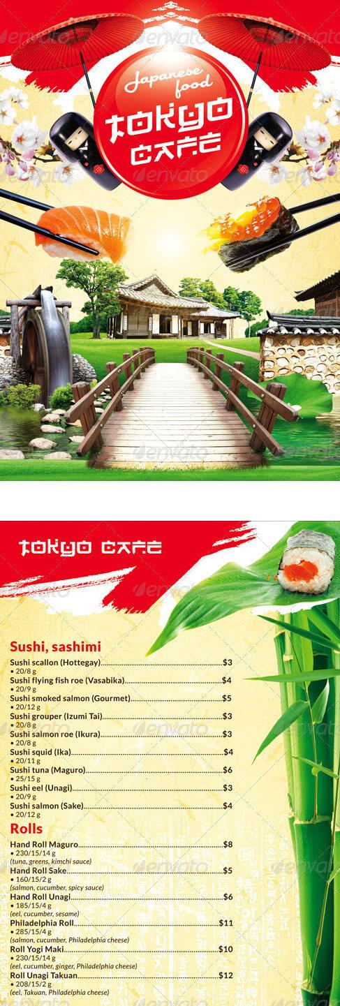 Japanese menu template