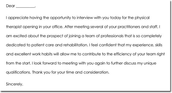 Job Interview Thank You Note Templates  Wording Ideas