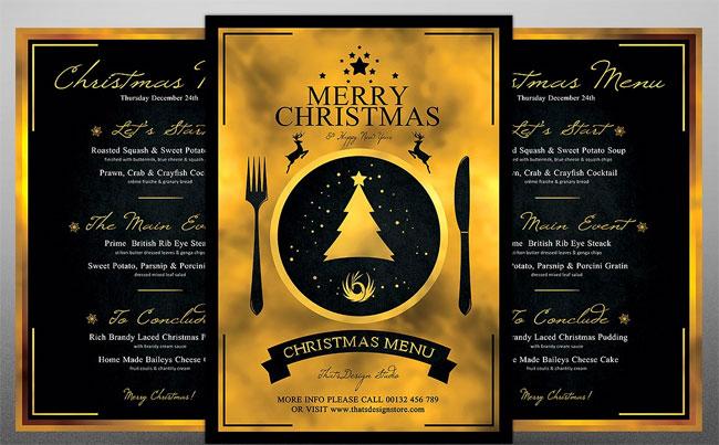 Merry-Christmas-Theme-Menu-Template