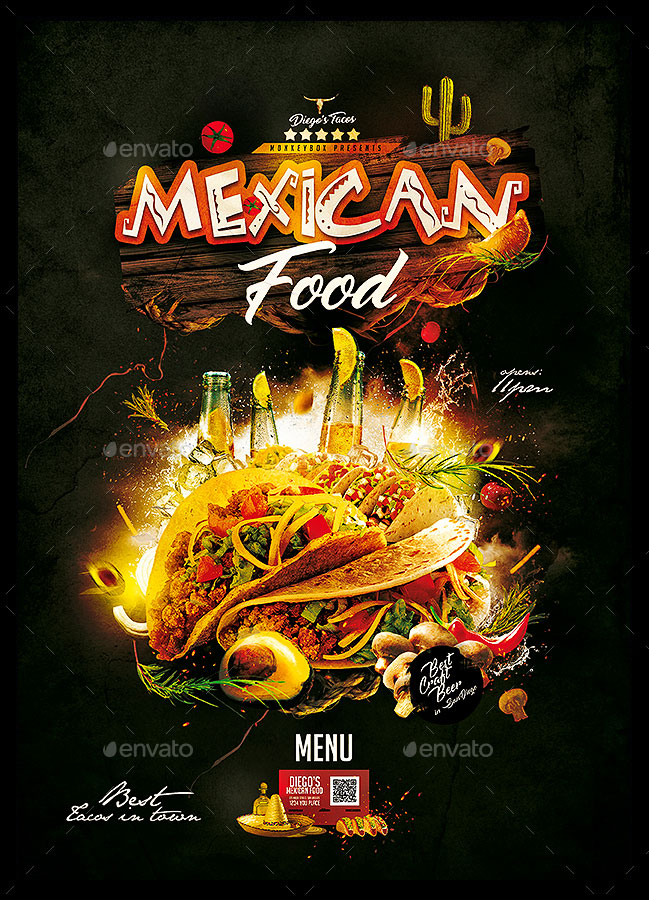 Mexican Food Menu Design Template