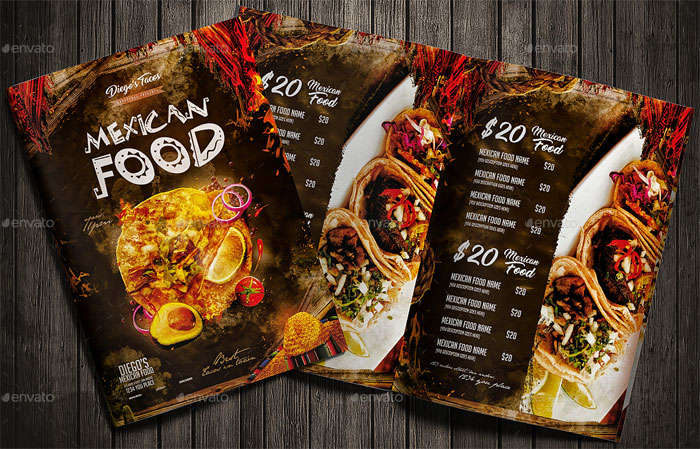 Mexican Menu Design