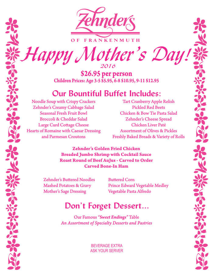 Mother's Day Menu Templates