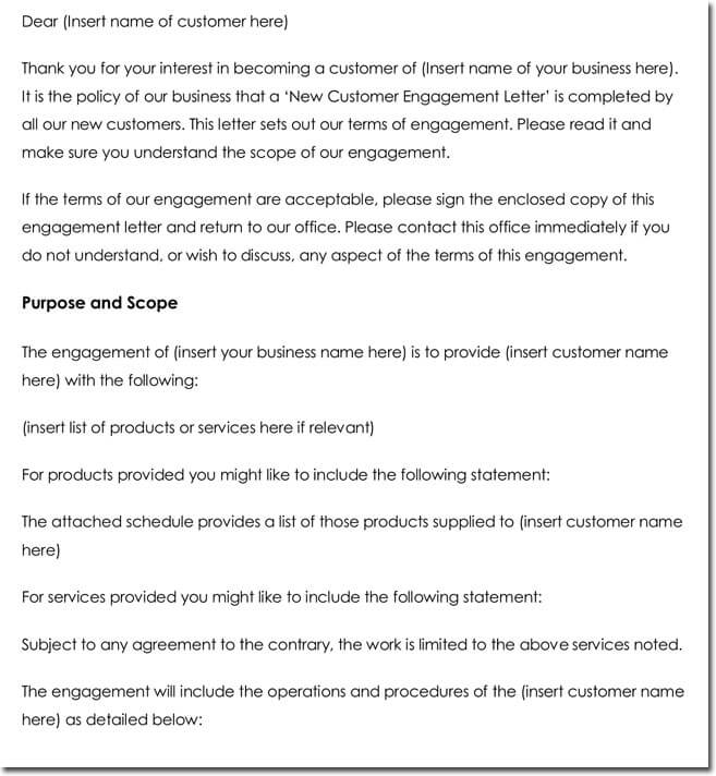 New Customer Thank You Letter Template