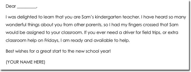 Parents to Teacher Thank You Note Wording
