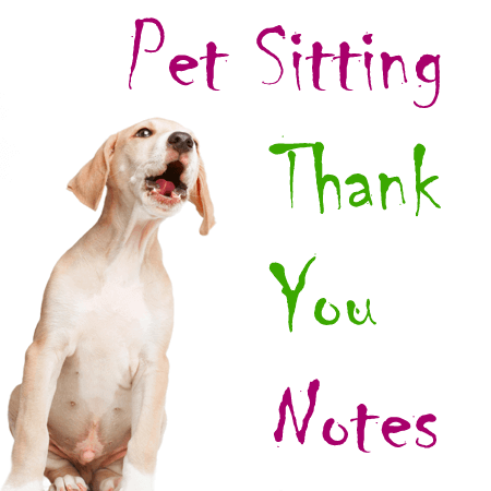 Pet Sitting Thank You Note Templates