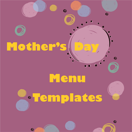 Special Mother's Day Menu Templates