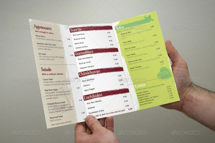 The Little Mexican Menu