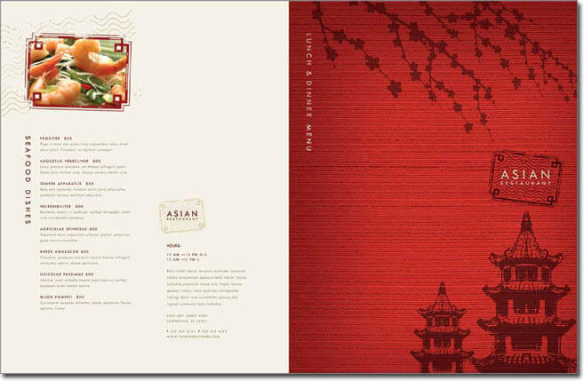 chinese menu template free