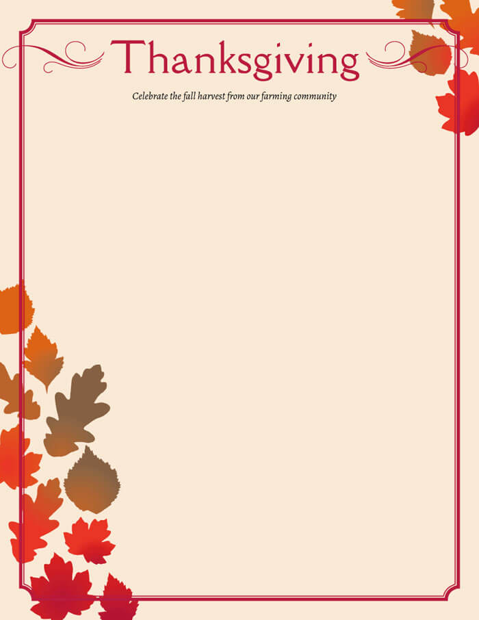 free thanksgiving menu