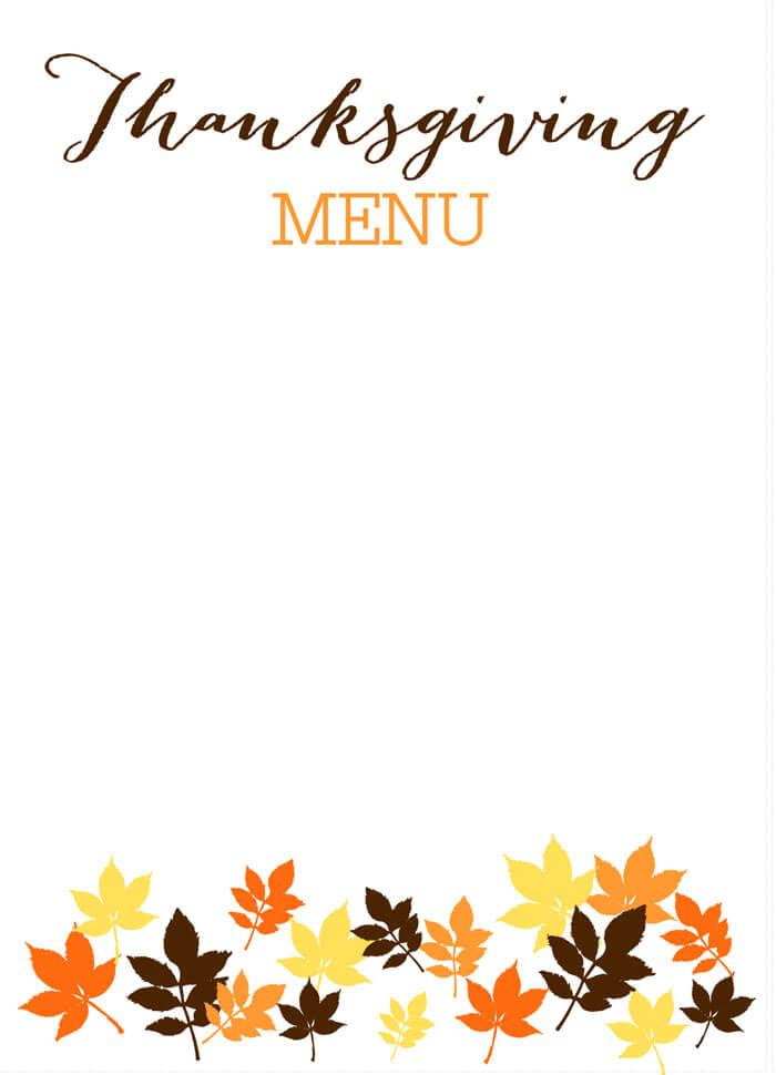 thanksgiving printable templates
