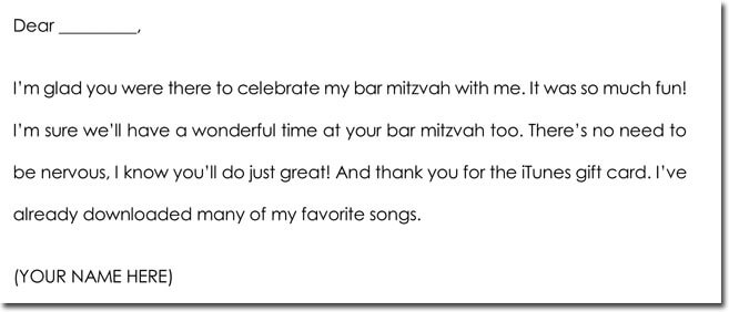 Bar Mitzvah & Bat Mitzvah Thank You Card Wording