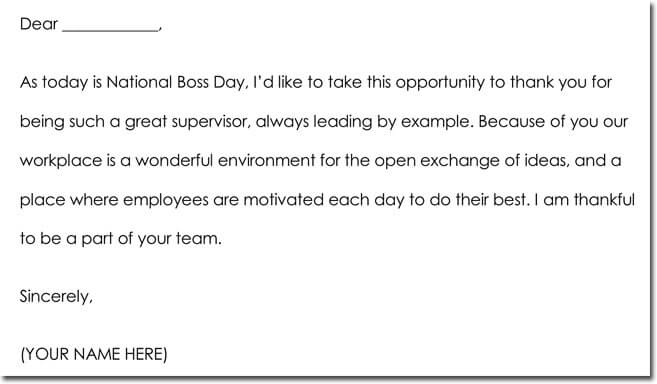 Boos Day Thank You Note Wording