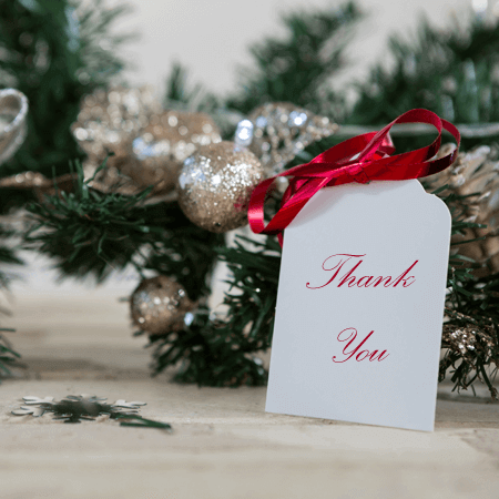 Christmas Gifts Thank You Note Templates