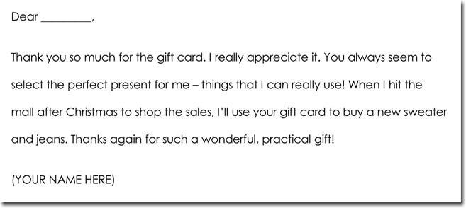christmas thank you letter sample