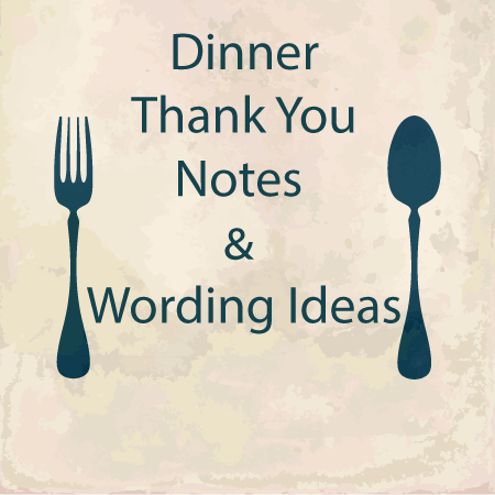 Dinner Thank You Note Templates & Wording Ideas