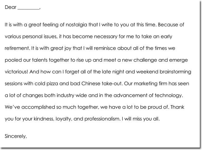 Employee Farewell Thank You Letter Format