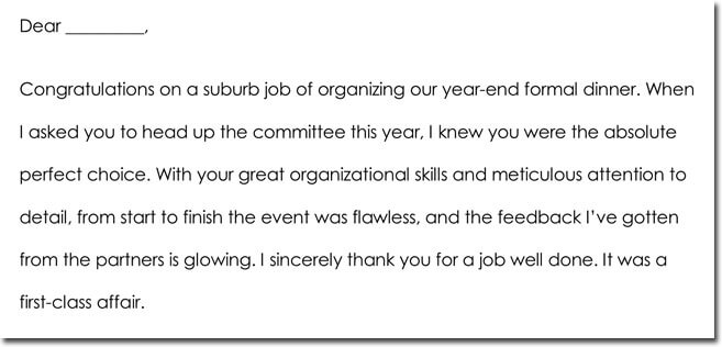 Employee Thank You Wording