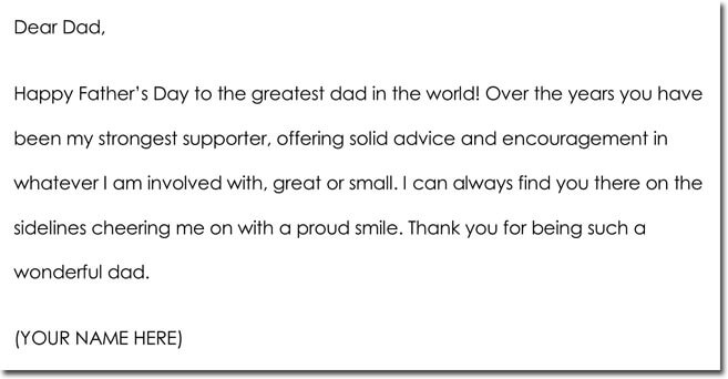 Father's Day Thank You Note Wording