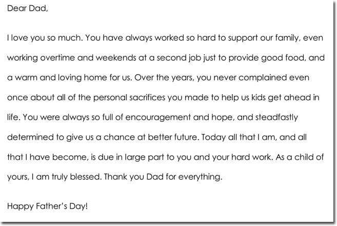 FatherS Day Thank You Note Examples  Wording Ideas