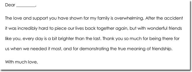 Get Well Thank You Card Wording