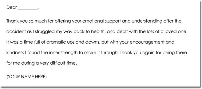 Get Well Thank You Letter Sample