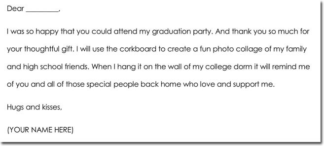 Great Graduation Thank You Notes