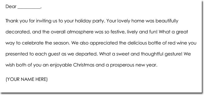 Hospitality Thank You Note Wording