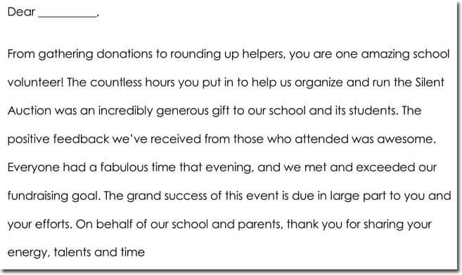 7 Volunteer Thank You Note Templates Wording Ideas