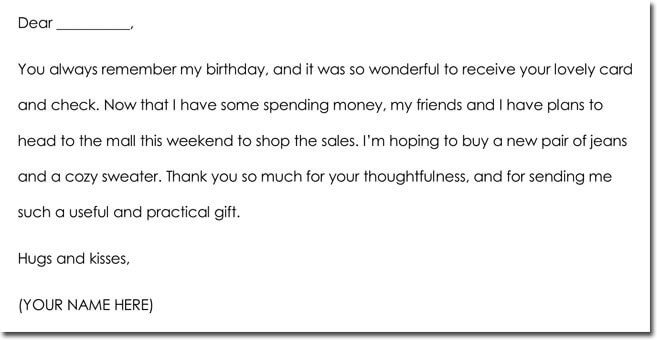 11 moneycash gift thank you note templates wording ideas thank you note sample for cash money negle Images