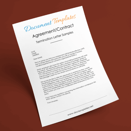 Agreement Contract Termination Letter Samples Examples and Formats Free Download