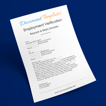 Employment Verification Request Letters