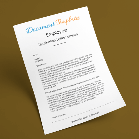 Free Download Employee Termination Letter Sample