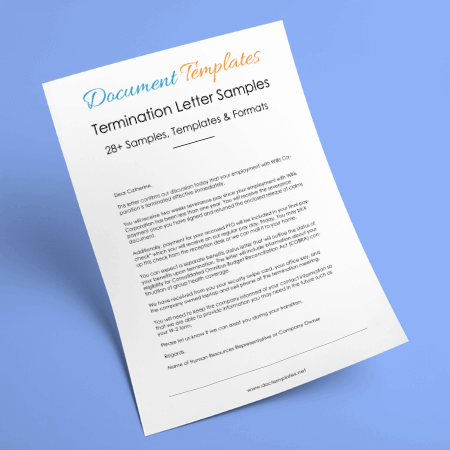 28+ Samples of Termination Letter Templates & Formats
