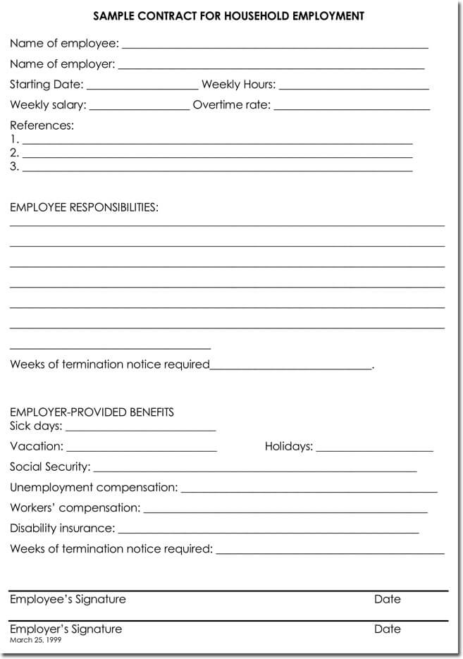 Employee Termination Letter Templates from www.doctemplates.net