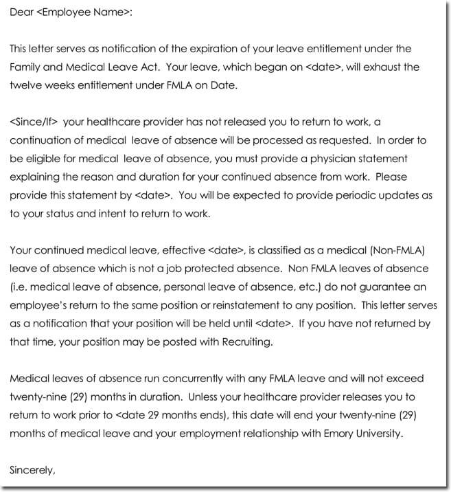 Sample fmla letter from doctor mersnoforum sample spiritdancerdesigns Image collections