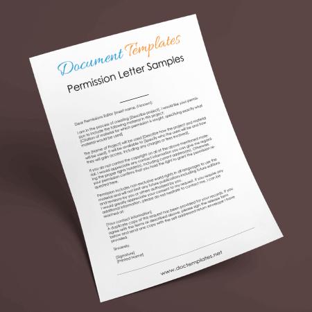 Permission Letter Templates