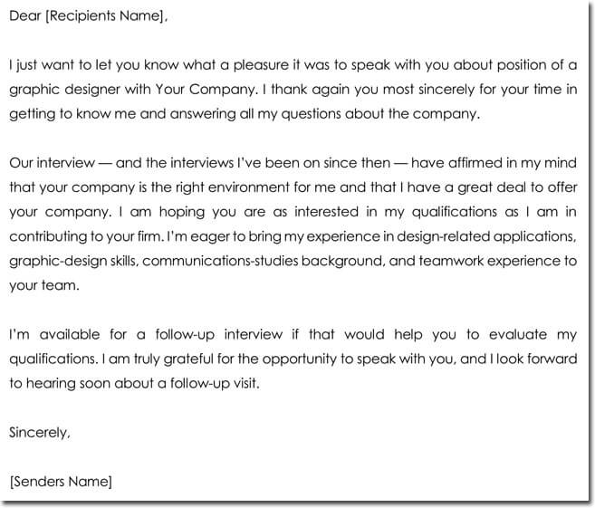 Sample Acknowledgement Letter for a Job Interview