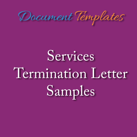 Service Termination Letter Samples